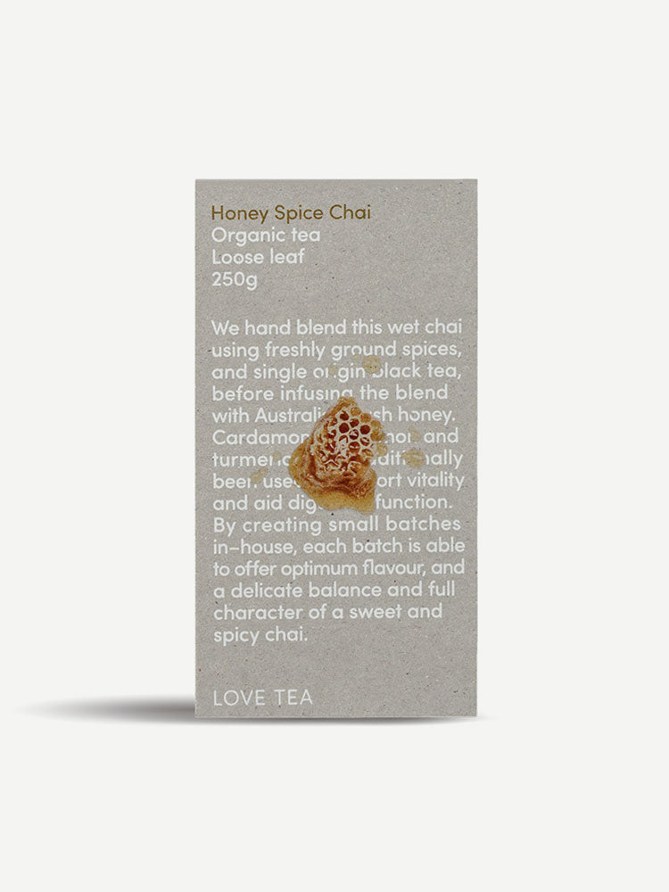 Love Tea Honey Spiced Chai Organic Loose Leaf Tea 250g