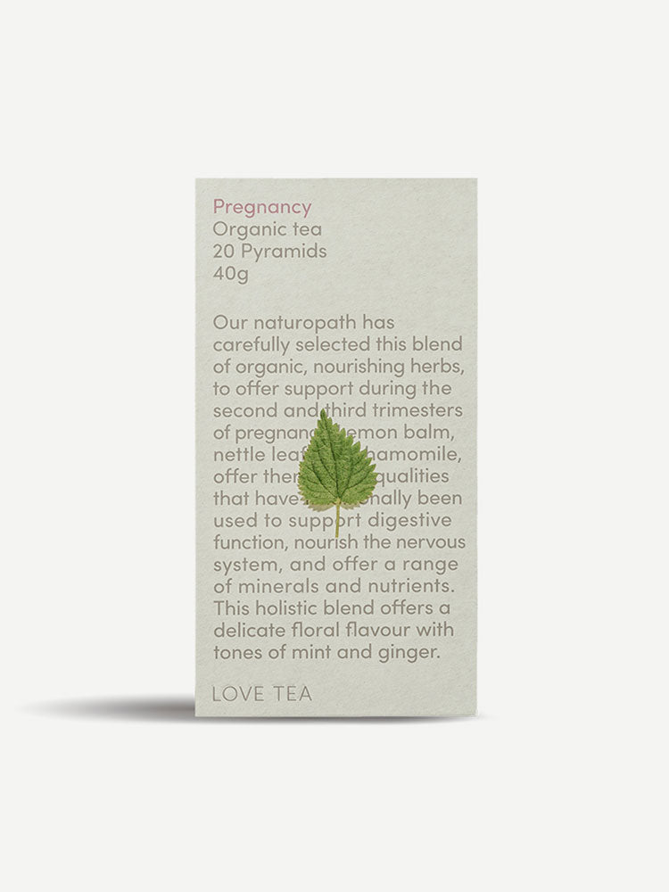 Box of 20 Love Tea Pregnancy Organic Pyramid Tea Bags
