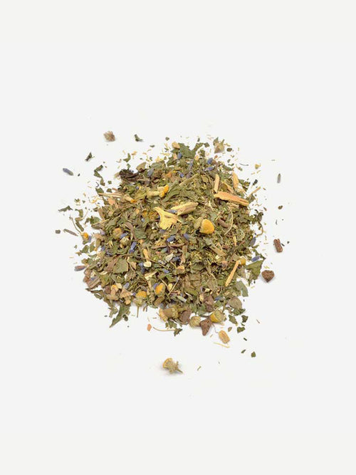 Love Tea Sleep Organic Loose Leaf Tea Flat Lay