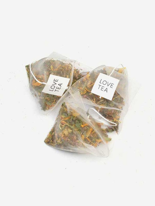 Three Love Tea pyramid organic tea bags