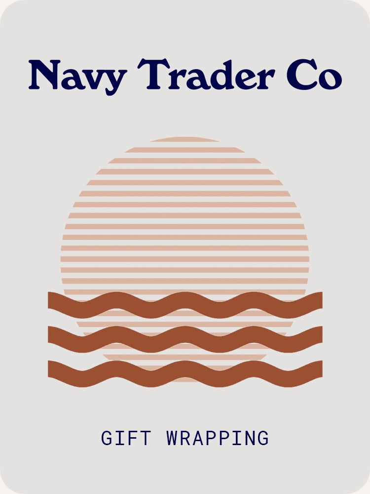 Navy Trader Co Gift Wrapping illustration