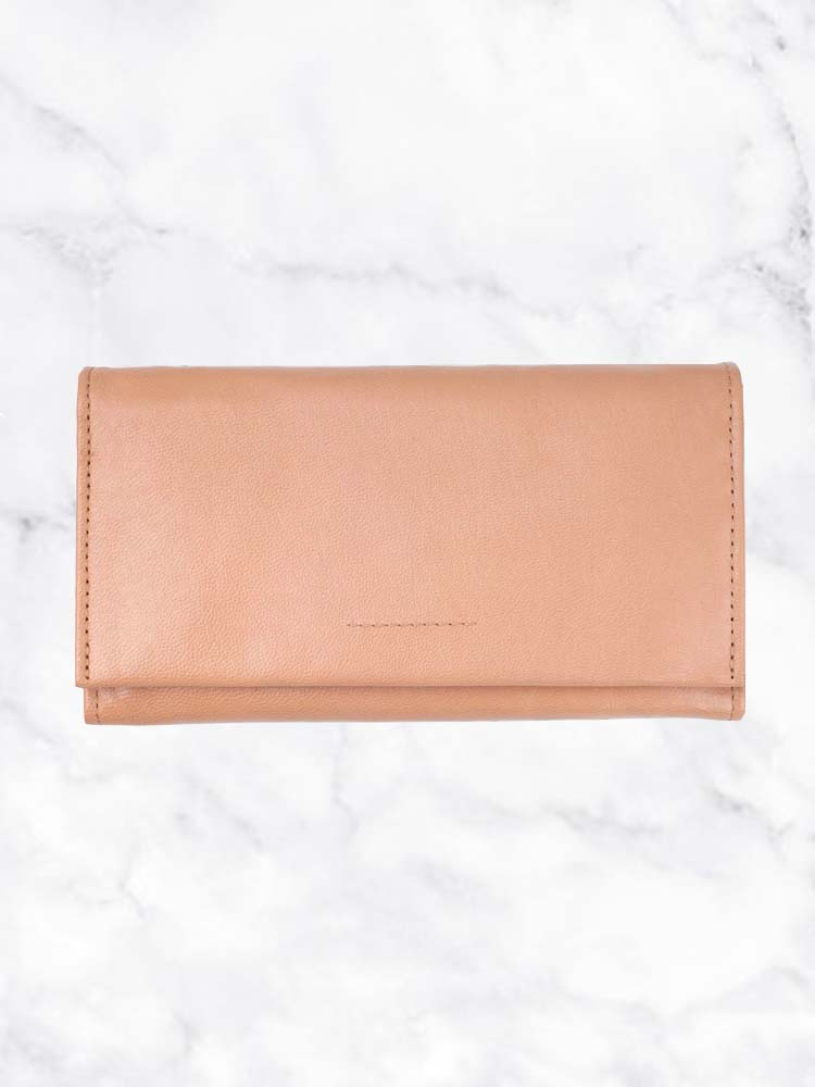 Ovae Eva Wallet in Biscuit colour