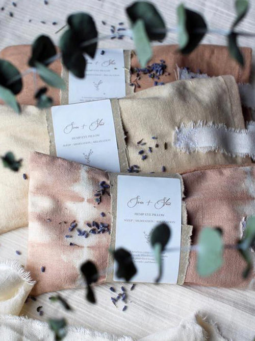 Siren and Stone hemp ritual eye pillow collection