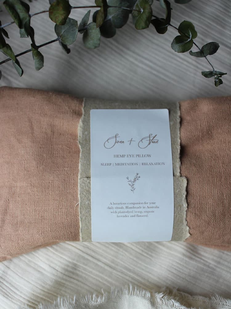 Siren and Stone Hemp Ritual Eye Pillow in Rose