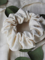 Siren and Stone thick cotton scrunchie in a classic off-white colour
