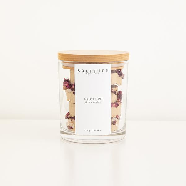 glass-jar-with-organic-bath-cookies-with-rose-petals