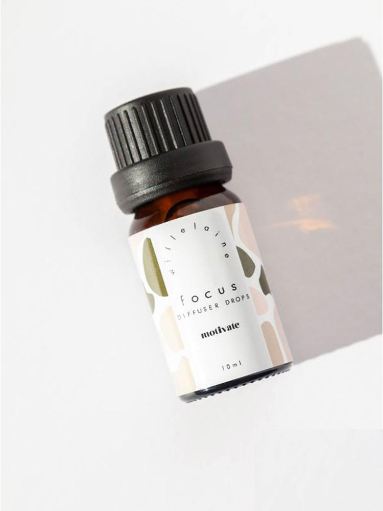 Little bottle of Focus essential oils by Willelaine Aromatherapy
