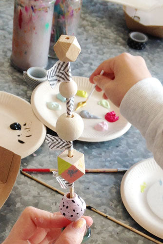 Wooden Beaded Keyring Making • Art & Craft Party