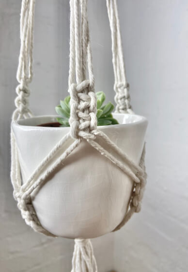 Macrame Plant Hanger Workshop • ONLINE