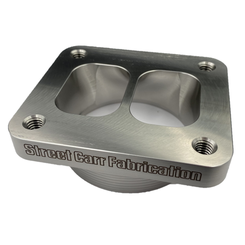 Street Carr Fabrication T4 single inlet divided billet turbo flange