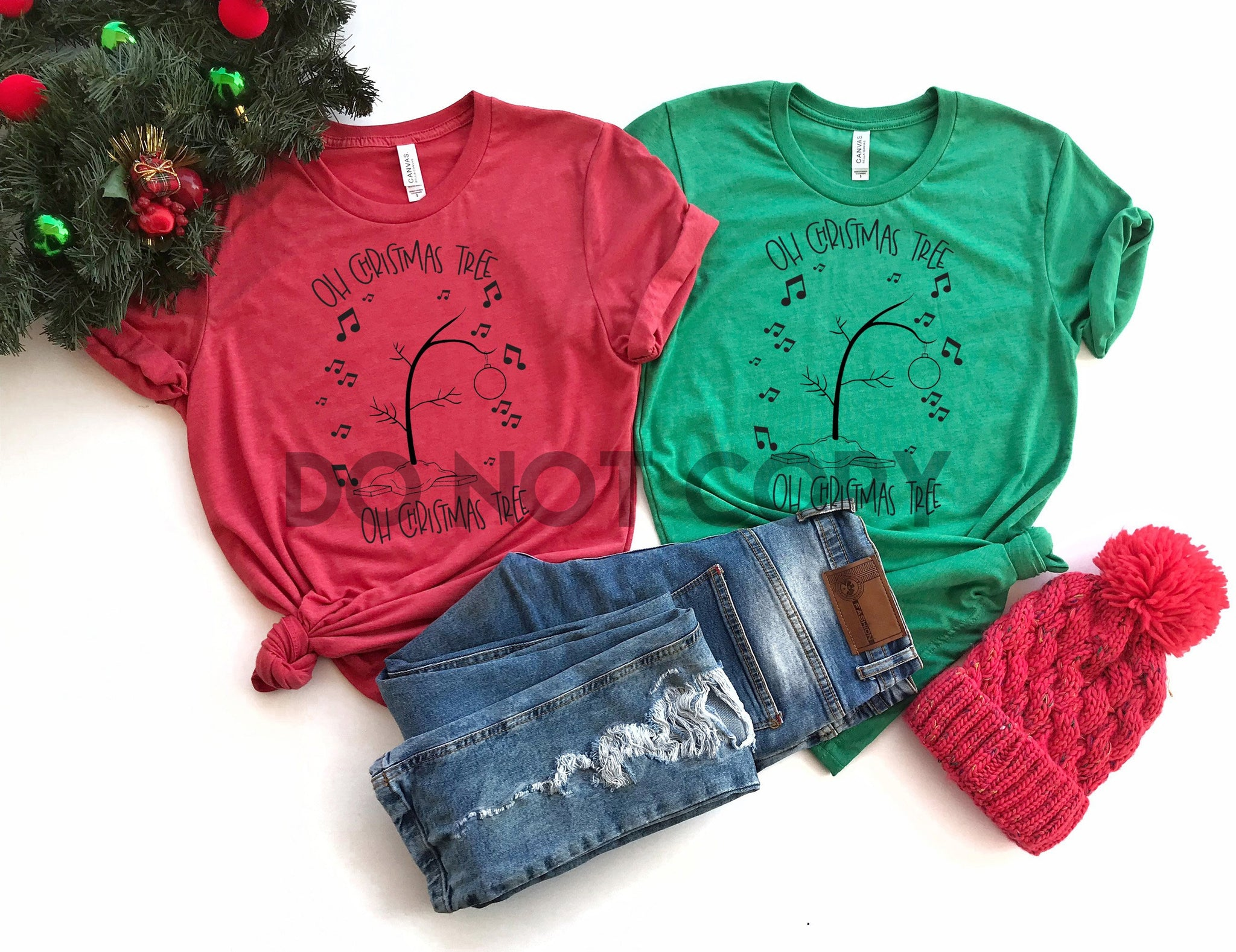 Oh Christmas Tree Rts 8 10 One Color Screen Print Transfer Puttin On The Printz