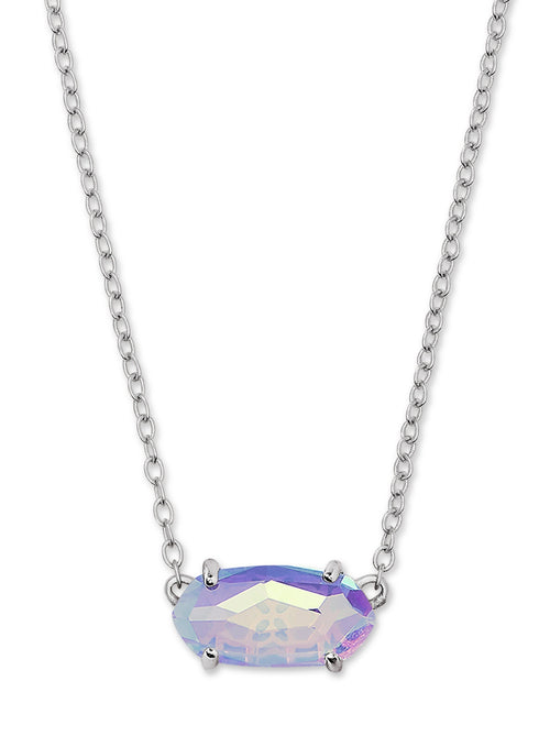 KENDRA SCOTT NECKLACE EVER RHODIUM DICHROIC GLASS