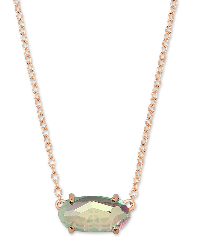 KENDRA SCOTT NECKLACE EVER ROSEGOLD DICHROIC GLASS
