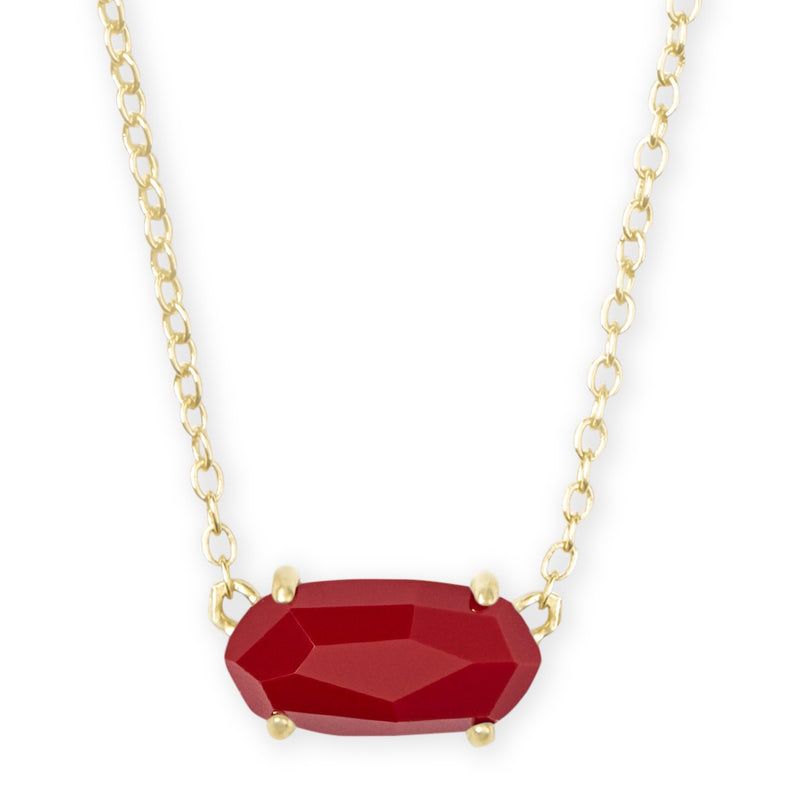 KENDRA SCOTT NECKLACE EVER GOLD DARK RED