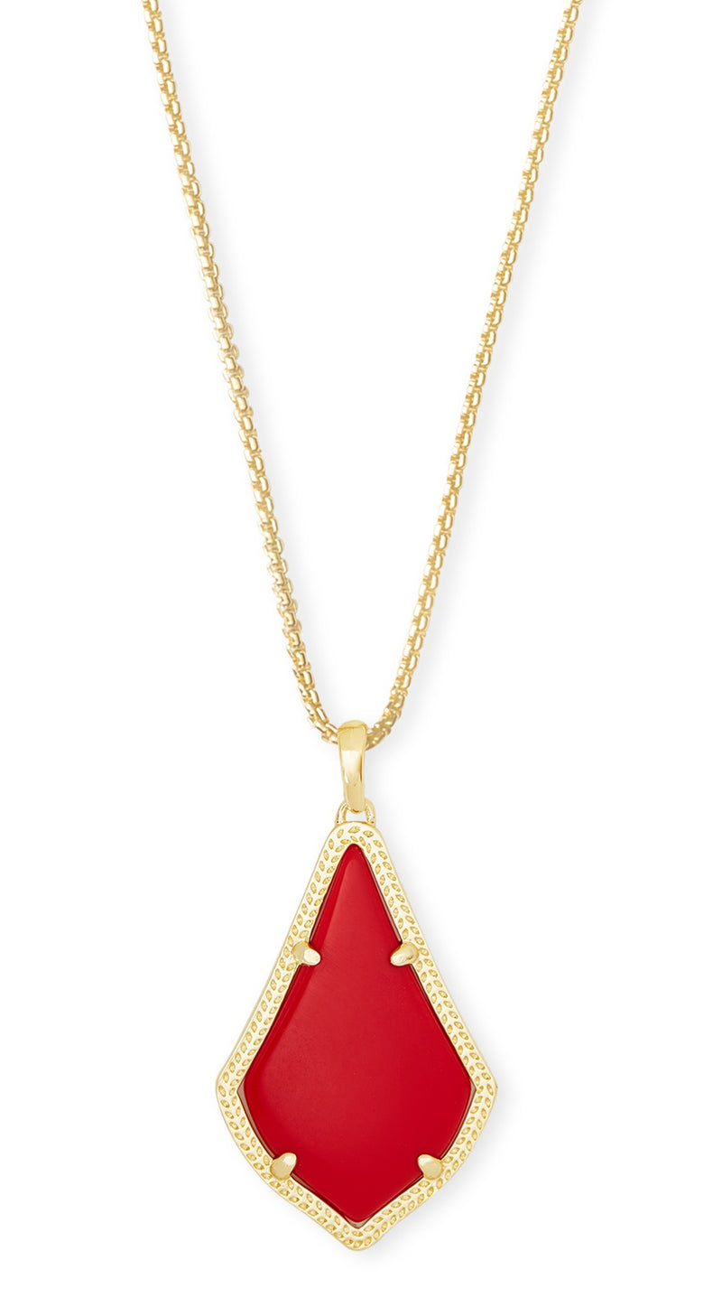 KENDRA SCOTT NECKLACE ALEX GOLD BRIGHT RED