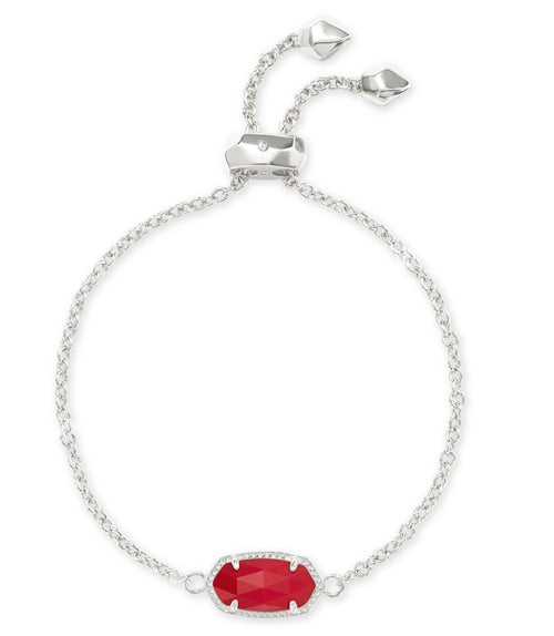 KENDRA SCOTT BRACELET ELAINA RHODIUM BRIGHT RED
