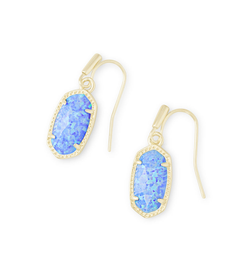 KENDRA SCOTT EARRINGS LEE GOLD OCEAN OPAL