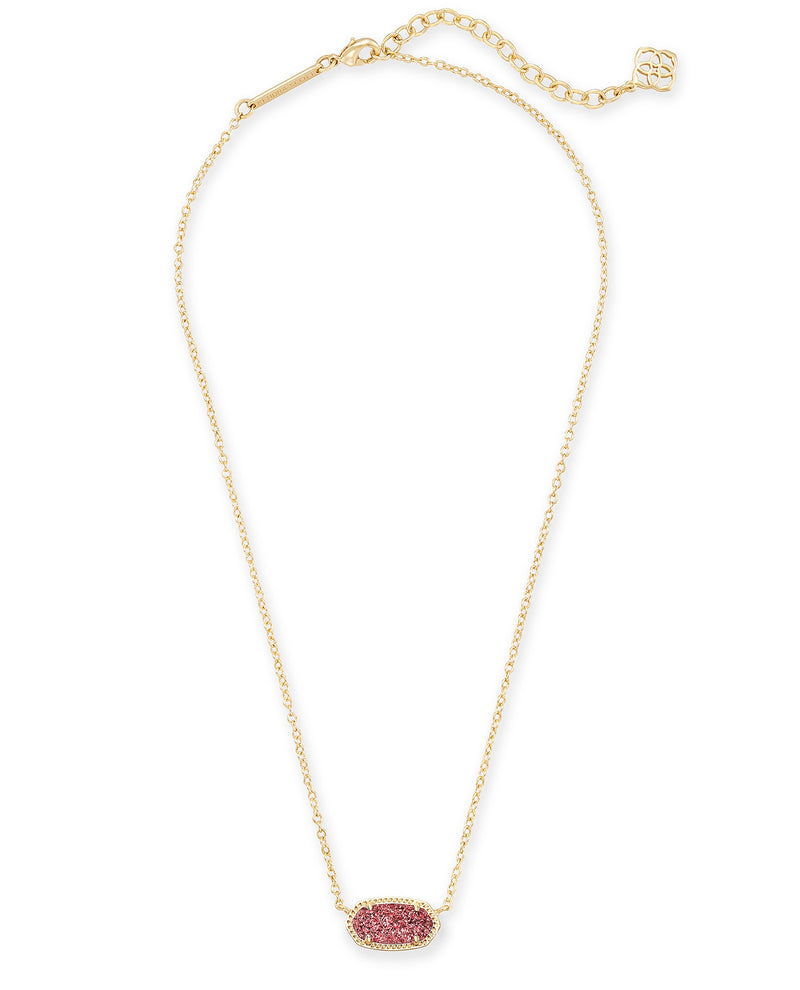 KENDRA SCOTT NECKLACE ELISA GOLD RASPBERRY DRUSY