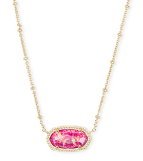 KENDRA SCOTT NECKLACE ELISA GOLD SATELLITE BERRY OPAL