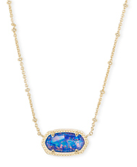 KENDRA SCOTT NECKLACE ELISA GOLD INDIGO OPAL SATELLITE