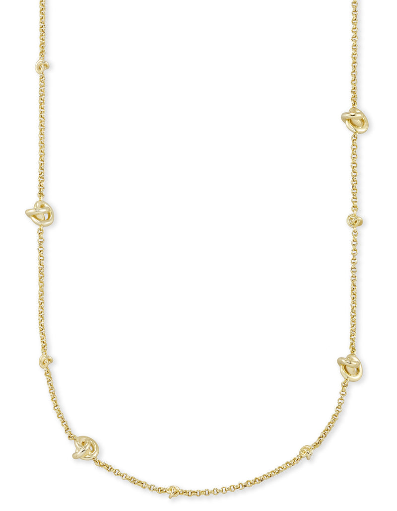 KENDRA SCOTT NECKLACE PRESLEIGH SHORT GOLD METAL