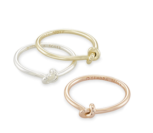KENDRA SCOTT RING PRESLEIGH RING SET OF 3 SIZE 8
