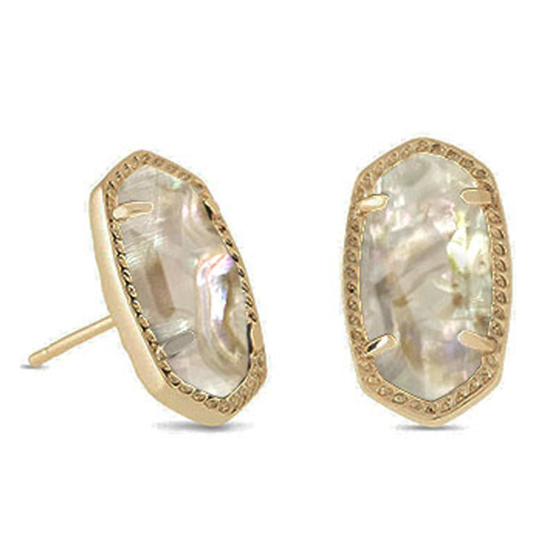 KENDRA SCOTT EAR ELLIE VIN GOLD WHITE ABALONE