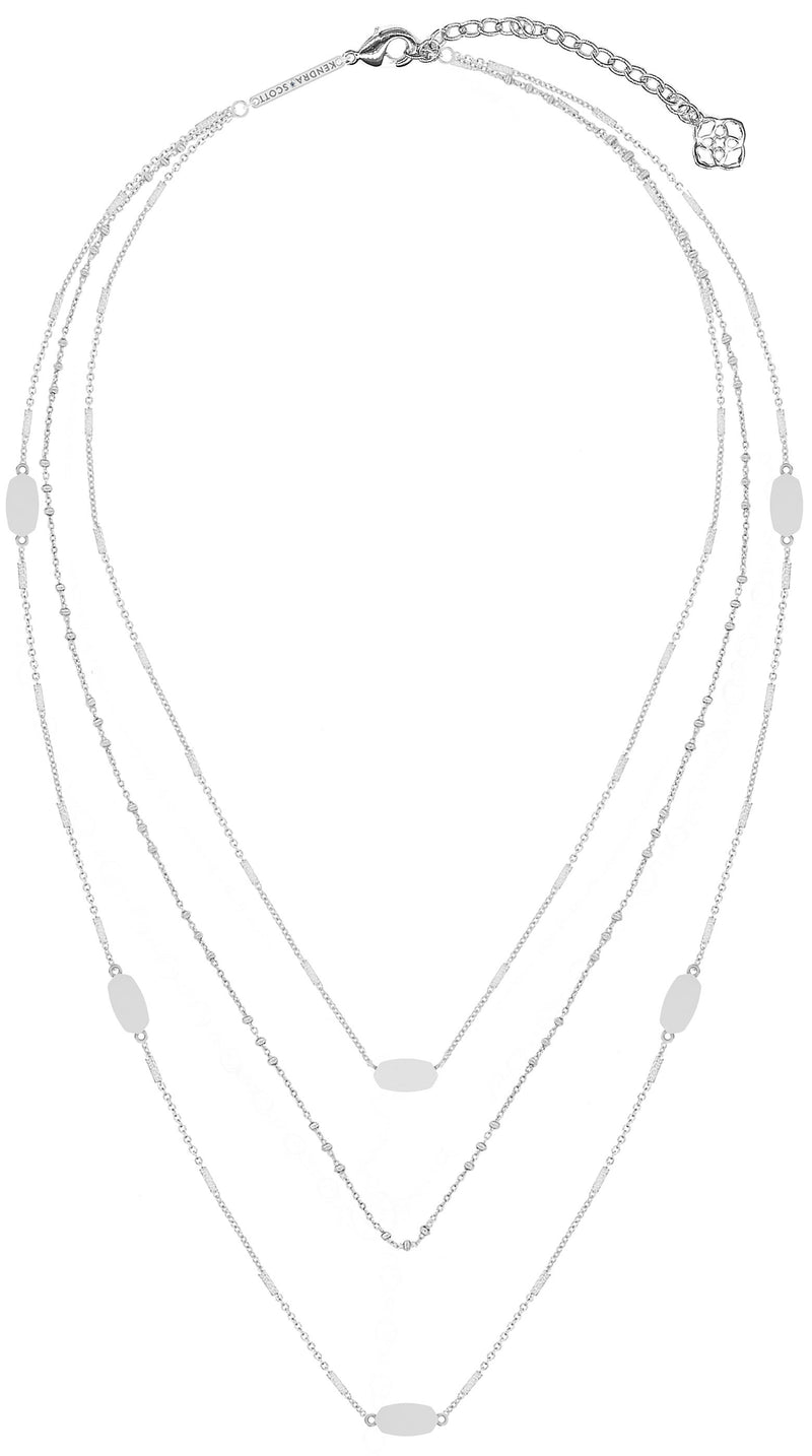 KENDRA SCOTT NECKLACE FERN TRIPLE STRAND BSV METAL