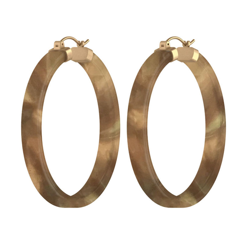KENDRA SCOTT EAR SMALL KASH EARRING VIN GOLD CHAMPAGNE ACETATE