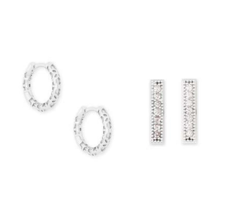 KENDRA SCOTT EAR MAGGIE EARRING SET RHODIUM METAL