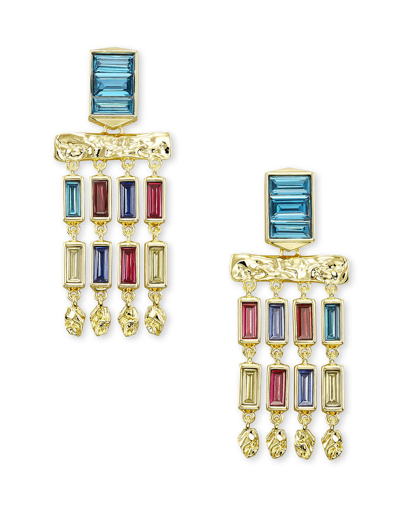 KENDRA SCOTT EAR JACK SMALL STATEMENT GOLD JEWEL TONE MIX