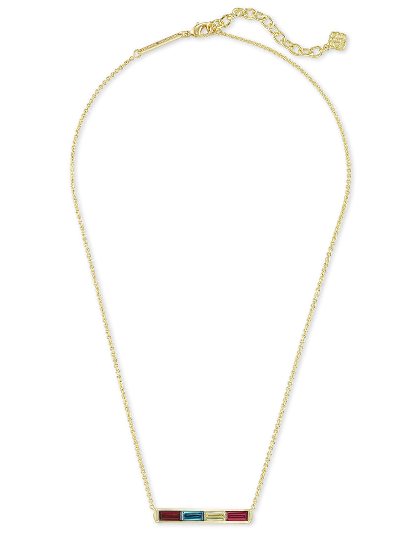 KENDRA SCOTT NECKLACE JACK PENDANT GOLD JEWEL TONE MIX