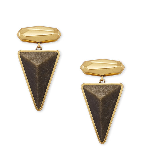 KENDRA SCOTT EAR VIVIAN DROP VINTAGE GOLD GOLDEN OBSIDIAN