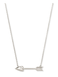 KENDRA SCOTT NECKLACE ZOEY PENDANT RHODIUM