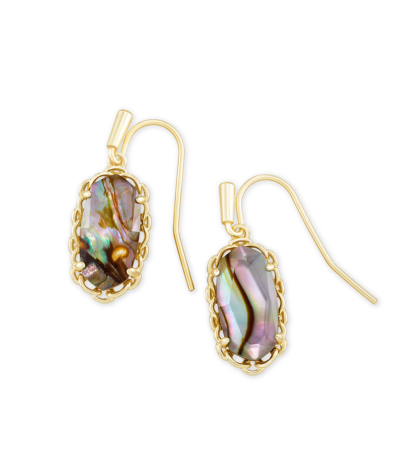 KENDRA SCOTT EAR MACRAME LEE GOLD NUDE ABALONE