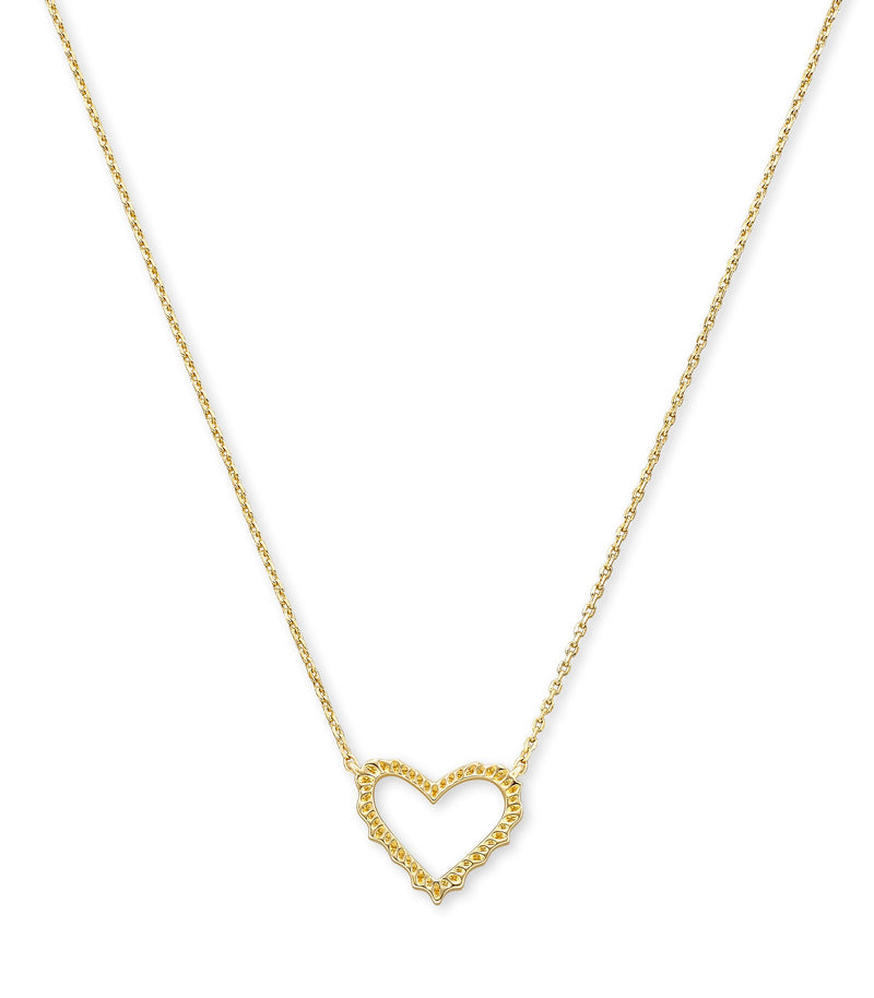 KENDRA SCOTT NECKLACE SOPHEE HEART SMALL PENDANT GOLD