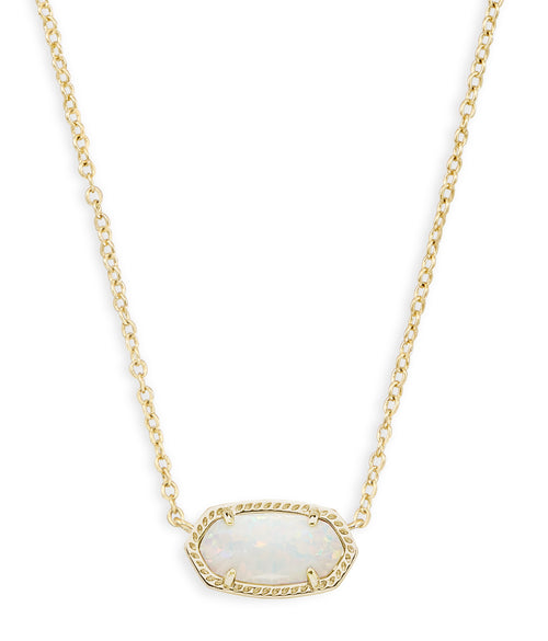 KENDRA SCOTT NECKLACE ELISA GOLD WHITE OPAL