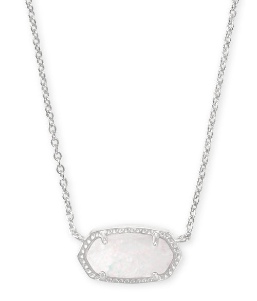 KENDRA SCOTT NECKLACE ELISA RHODIUM WHITE OPAL