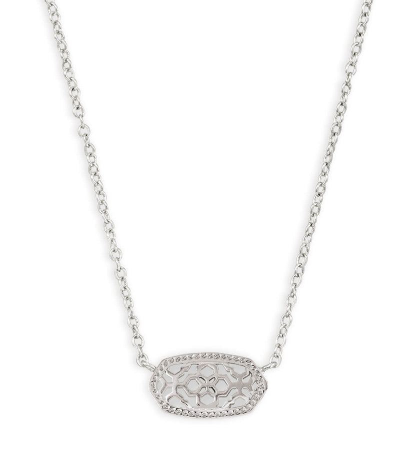 KENDRA SCOTT NECKLACE ELISA RHODIUM FILIGREE METAL