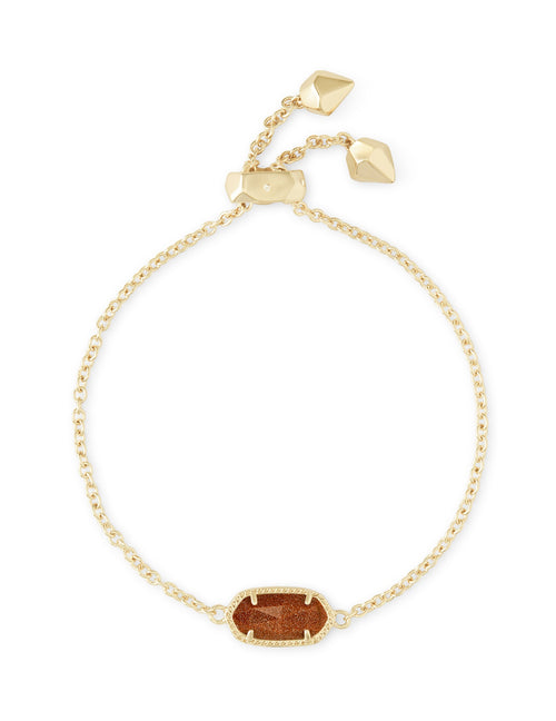 KENDRA SCOTT BRACELET ELAINA GOLD ORANGE GOLDSTONE