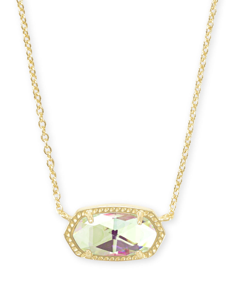 KENDRA SCOTT NECKLACE ELISA GOLD DICHROIC GLASS