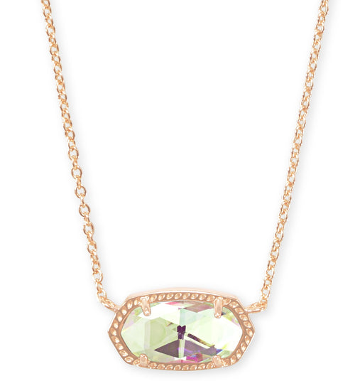 KENDRA SCOTT NECKLACE ELISA ROSEGOLD DICHROIC GLASS