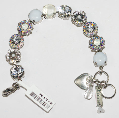 MARIANA  BRACELET ON A CLEAR DAY: clear, a/b, white stones in silver setting