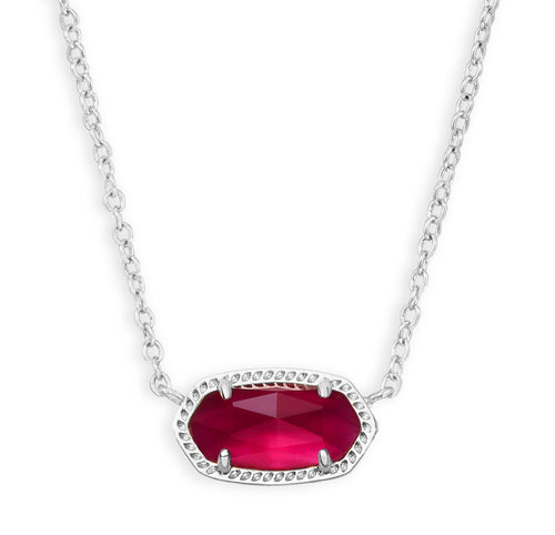 KENDRA SCOTT NECKLACE ELISA RHODIUM BERRY ILLUSION