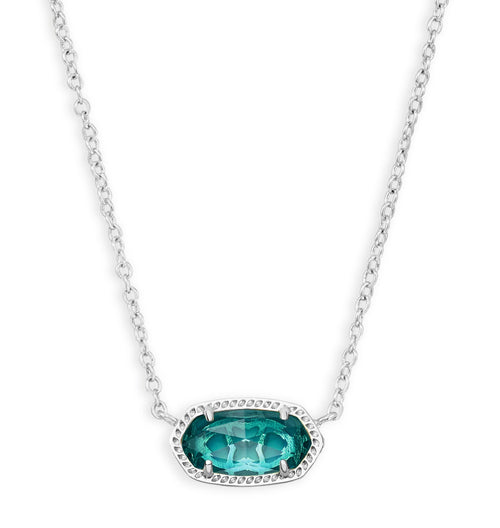 KENDRA SCOTT NECKLACE ELISA RHODIUM LONDON BLUE