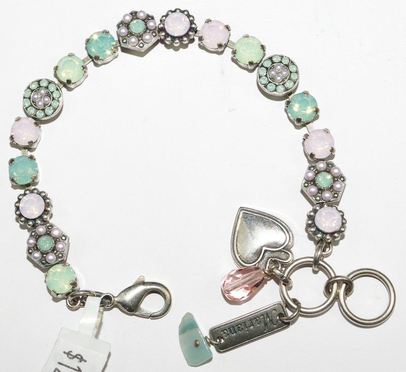 MARIANA BRACELET MORNING GLORY: pacific opel, pink, pearl stones in silver setting