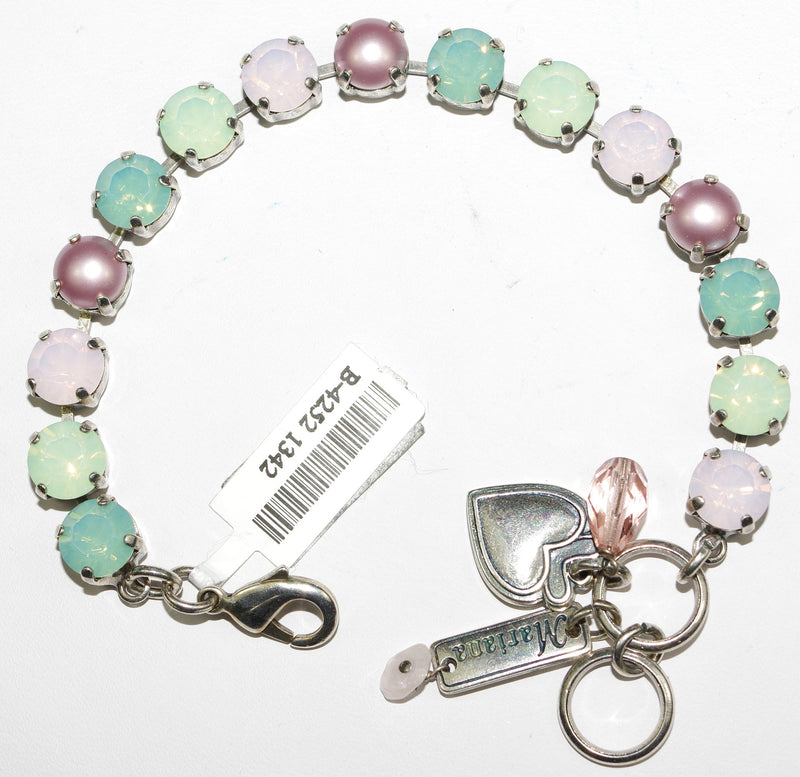 "MARIANA BRACELET MORNING GLORY BETTE: pink, pacific opal, pearl 3/8"" stones in silver setting"