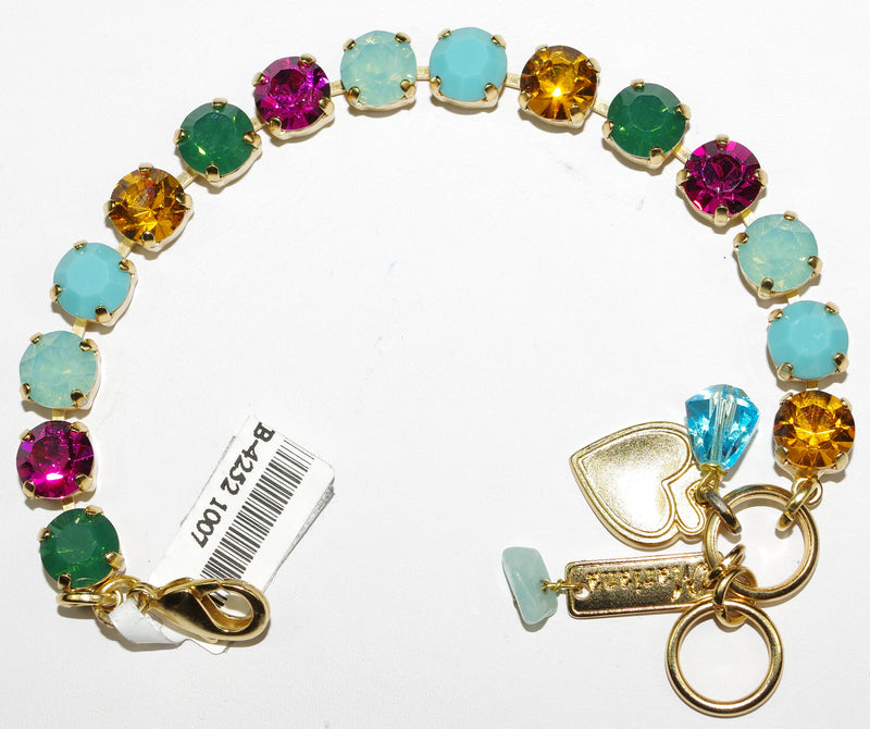 MARIANA BRACELET HAPPY DAYS BETTE: fucshia, pacific opal, amber, turq stones in yellow gold setting