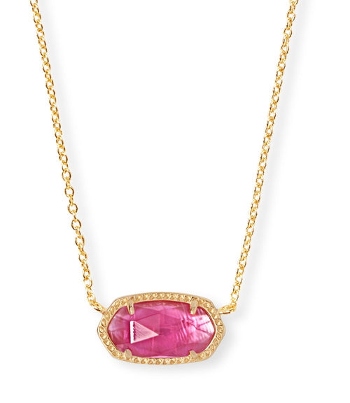 KENDRA SCOTT NECKLACE ELISA GOLD AZALEA ILLUSION.