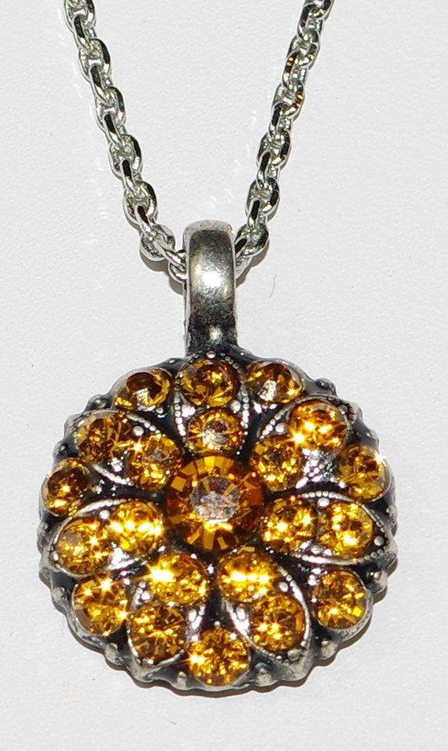 "MARIANA ANGEL PENDANT CITRINE NOVEMBER BIRTHDAY: amber stones in silver setting, 18"" adjustable chain"